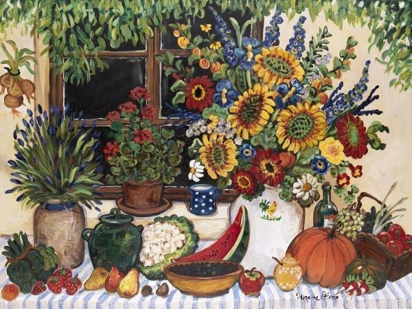 BOUNTEOUS TABLE…SUZANNE ETIENNE