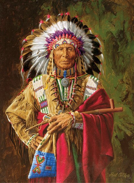 PAUL CALLE…CHIEF OF THE ROSEBUD, GICLEE CANVAS ARTIST