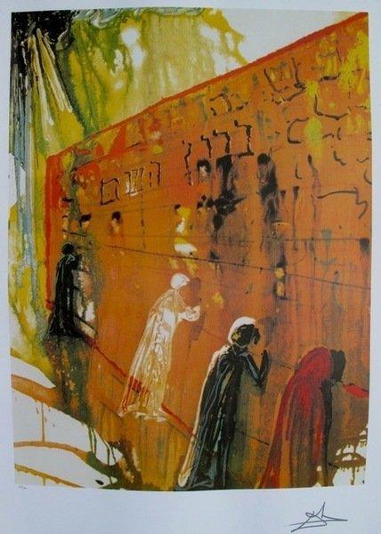 Salvador Dali Wailing Wall Limited Edition Facsimile