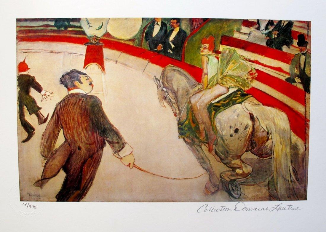 Henri Toulouse Lautrec Le Cirque Fernando Estate Signed