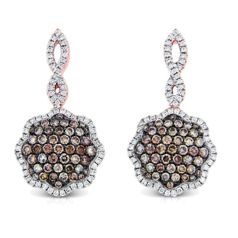 Earrings...14k Gold 4.4 Gram Diamond G