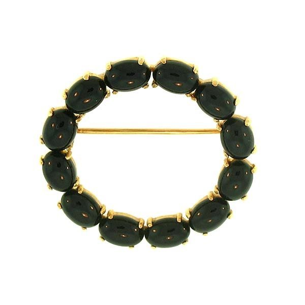 Natural Black Jade Pin