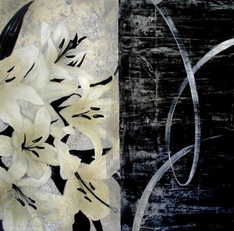 Original Painting By Liz Jardine-Graphic Lillies II