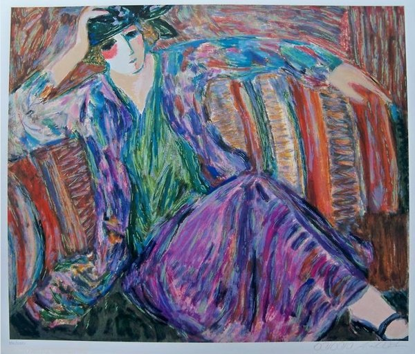 Barbara Wood Pensive Woman Hand Signed Limited Edition