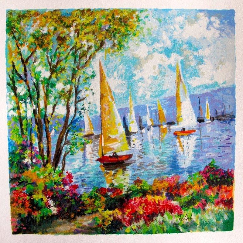 "Dimitry Polak ""Sailing On The Lake Hand Signed Limited"