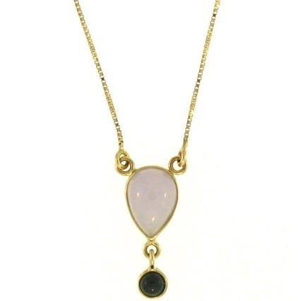 Natural Lavender Mix Jade Necklace