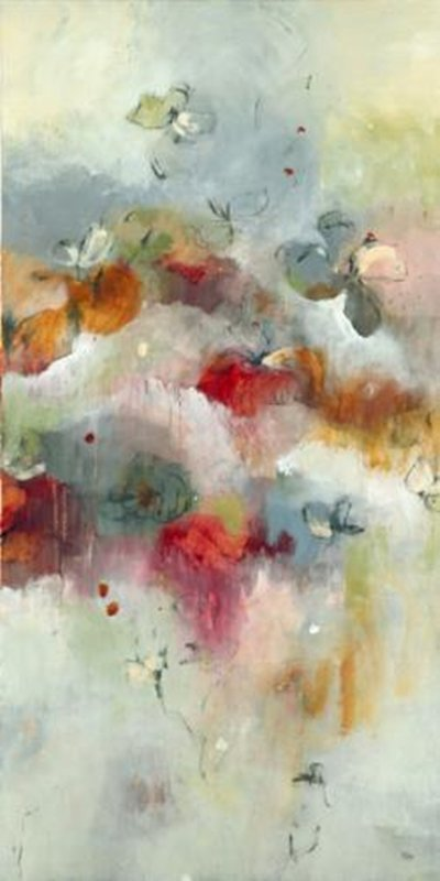 Original Painting By Lisa Ridgers-Floral Expression