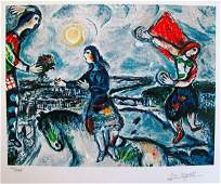 Marc Chagall Lovers Over Paris Limited Edition