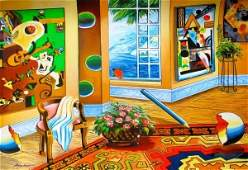 """Alexander Astahov """"Interior With A View"""" Hand Signed"""