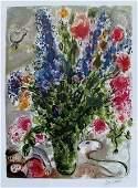 Marc Chagall Les Lupins Bleu Limited Edition Facsimile