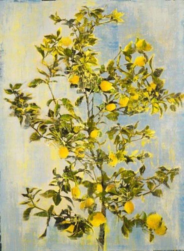 Original Painting By Liz Jardine-Lovely Lemon Tree