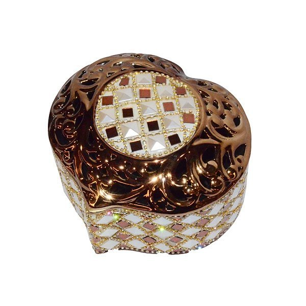 Rhinestone Heart Box