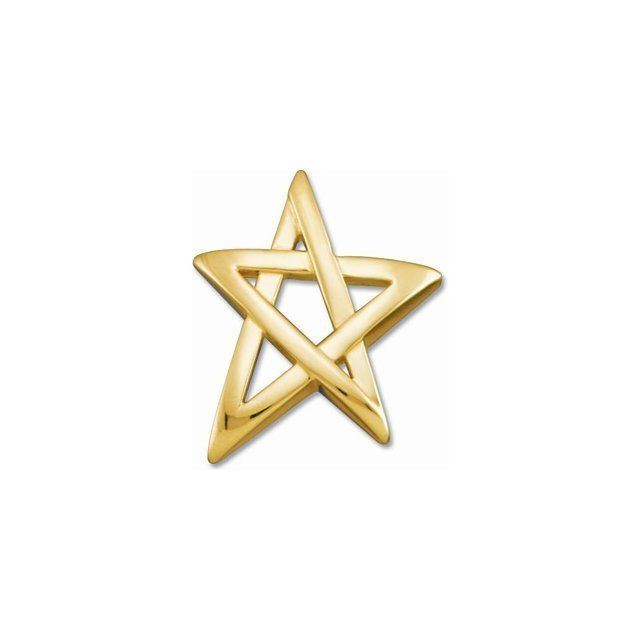 14kt White Star Shape Pendant