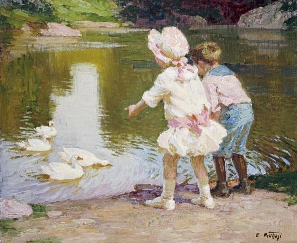 Edward Henry Potthast - In The Park