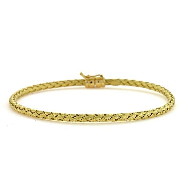 18KT Yellow Braided 2.8mm Bracelet