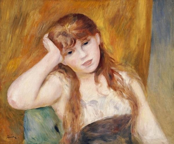 Pierre Auguste Renoir - Jeune Fille Blonde