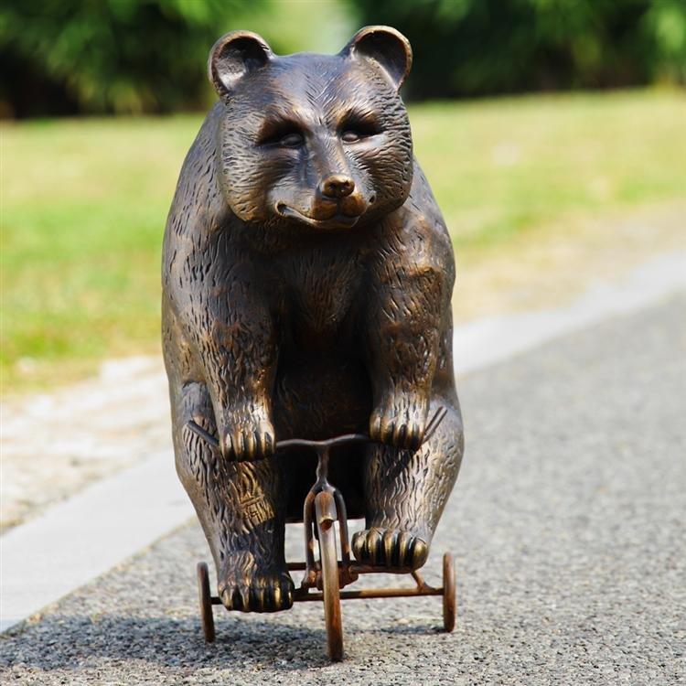 Big Bear on Little Trike Garden Sculpture