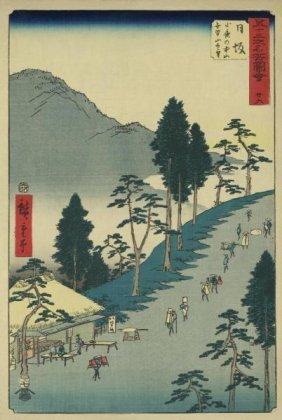 Ando Hiroshige - Nissaka, 1855