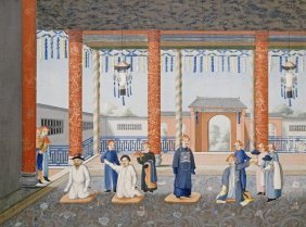 Chinese School - Scenes From Imperial Court Life. 19th