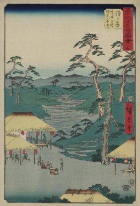 Ando Hiroshige - Hodogaya, 1855