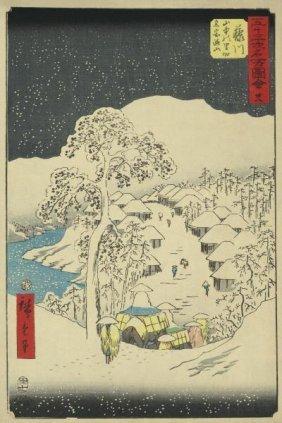 Ando Hiroshige - Fujikawa, 1855