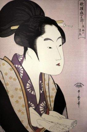 Kitagawa Utamaro - Portrait Of A Woman