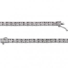 Sterling Silver 1/2 Ctw Diamond Line 8.5 Bracelet