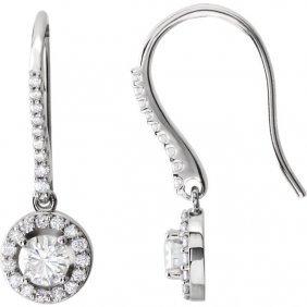 14kt White 1 Ctw Diamond Earrings