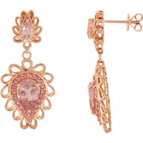 14kt Rose Morganite & Pink Tourmaline Earrings