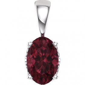 14kt Yellow Chatham Created Ruby Pendant