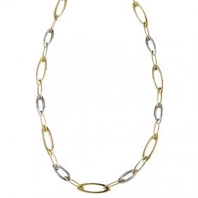 14kt Yellow White Necklace