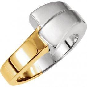 18kt White & Yellow Fashion Ring
