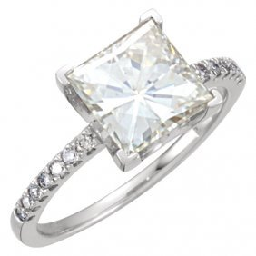 Forever Classica Moissanite & Diamond Accented Ring
