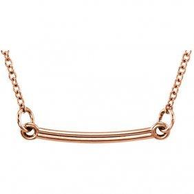 14kt Rose Bar 18 Necklace