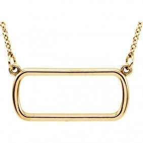 14kt Yellow Soft Rectangle 16 Necklace