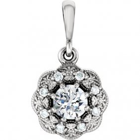 Platinum 1/3 Ctw Diamond Pendant