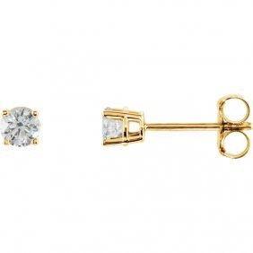 14kt Yellow 1/3 Ctw Diamond Earrings