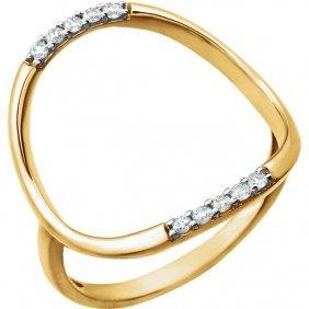 14kt Yellow 1/10 Ctw Diamond Ring
