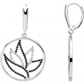 Black Spinel & Diamond Earrings