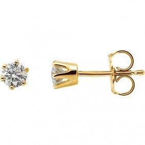 1/3 Ctw Diamond Friction Post Stud Earrings