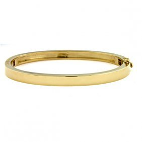 14kt Yellow Solid Bangle 5.2mm