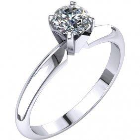 Platinum 1/2 Ctw Diamond 4-prong Light Solitaire