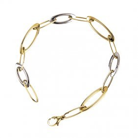 14kt Yellow White Bracelet