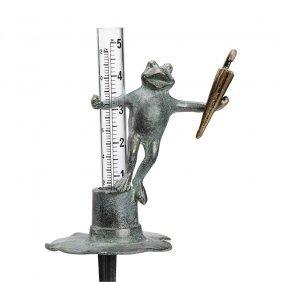 Singing Frog Rain Gauge Holder