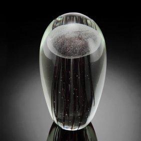 Art Glass Gray Jellyfish Glow In The Dark