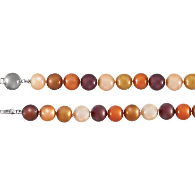 Sterling Silver Freshwater Cultured Dyed Chocolate