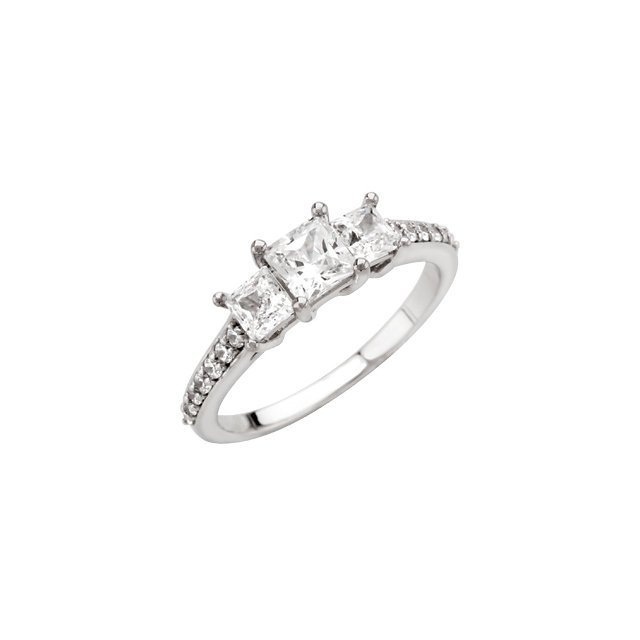 14kt White 3/4 CTW Diamond Engagement Ring