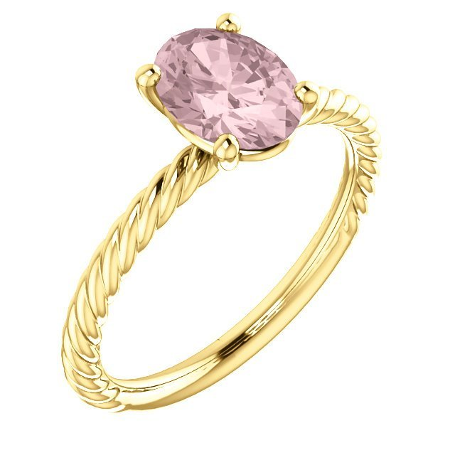 14kt Yellow Morganite Ring