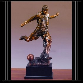 Bronze Soccer Player