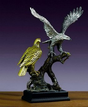 Bronze Two Eagles